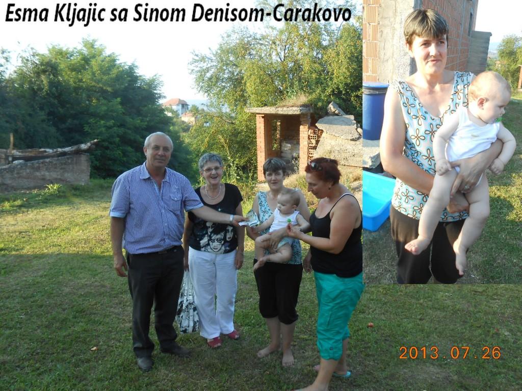 Esma Kljajic sa sinom Denisom u Carakovu