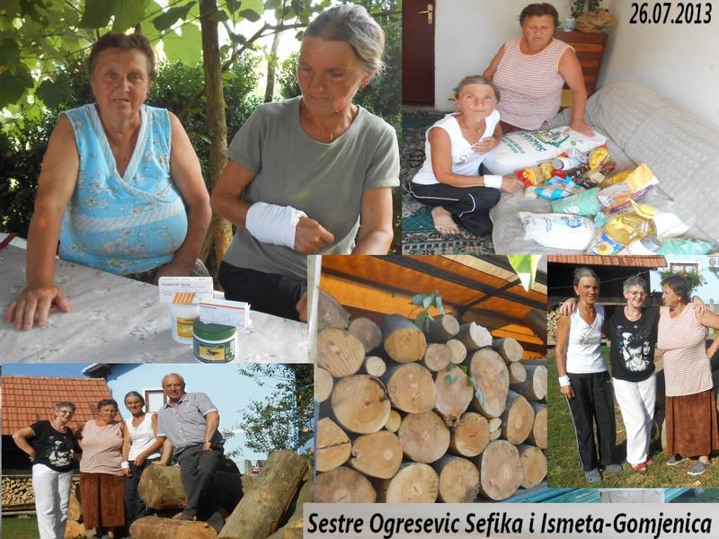 Sestre Ogresevic- Sefika i Ismeta u dvoristu u Gomjenici