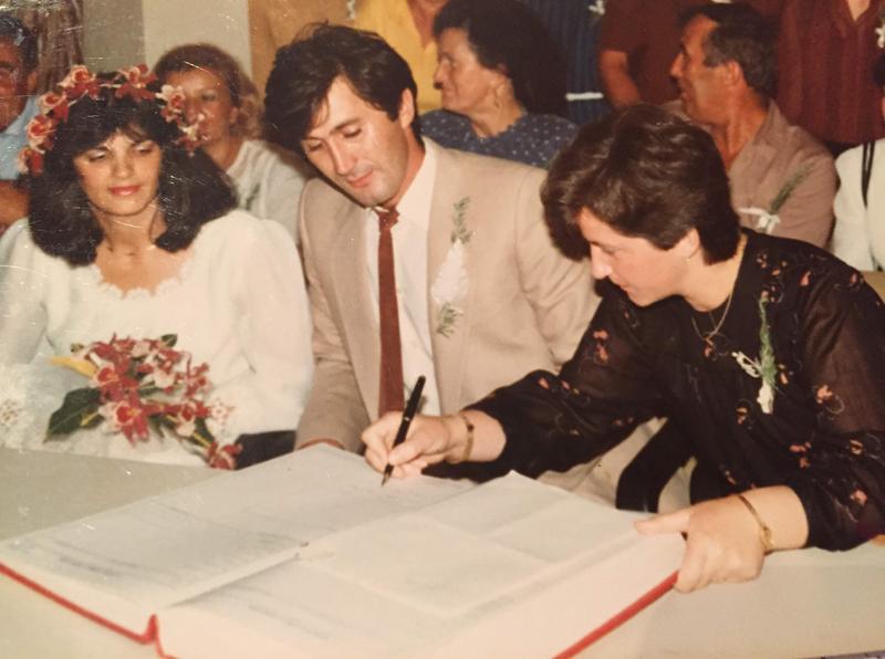 Fotografija s vjenčanja pokojnih Slavka i Cecilije Ećimović